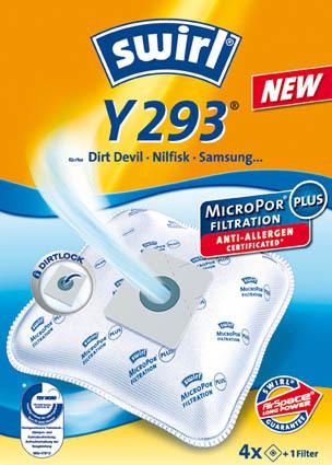 Swirl Staubsaugerbeutel Y 293 MicroPor Plus AirSpace