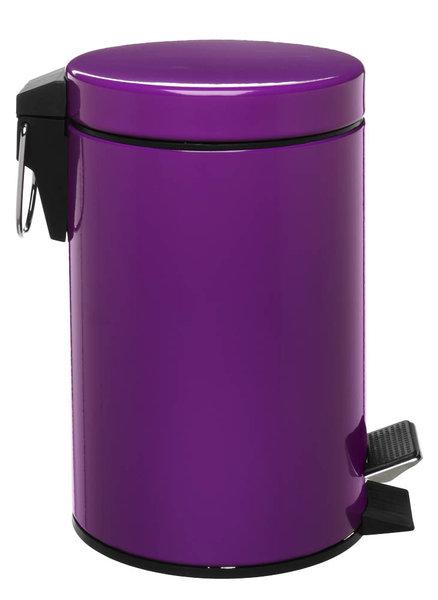 Zeller Tretabfalleimer 3 Liter lila