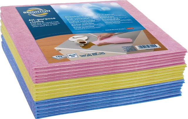 Staples Reinigungstücher blau/rot/gelb 38 x 38 cm