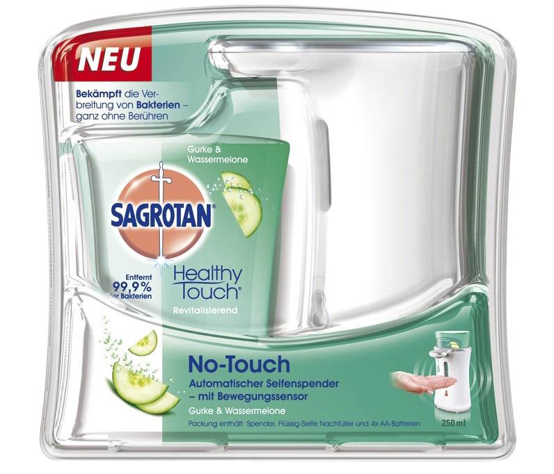 Sagrotan Automatischer Sensor-Seifenspender und Nachfüllflaschen