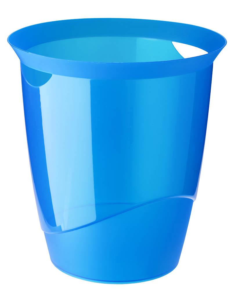DURABLE Papierkorb TREND 16 Liter blau transluzent