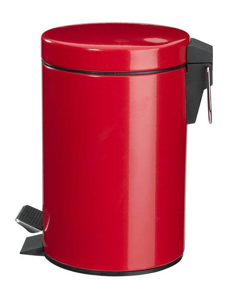 Zeller Tretabfalleimer 3 Liter rot