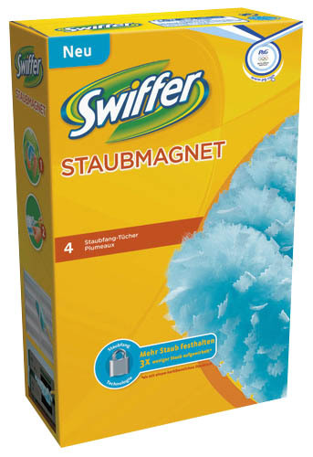 Swiffer 4 Ersatz-Staubfangtücher für Staubmagnet XXL