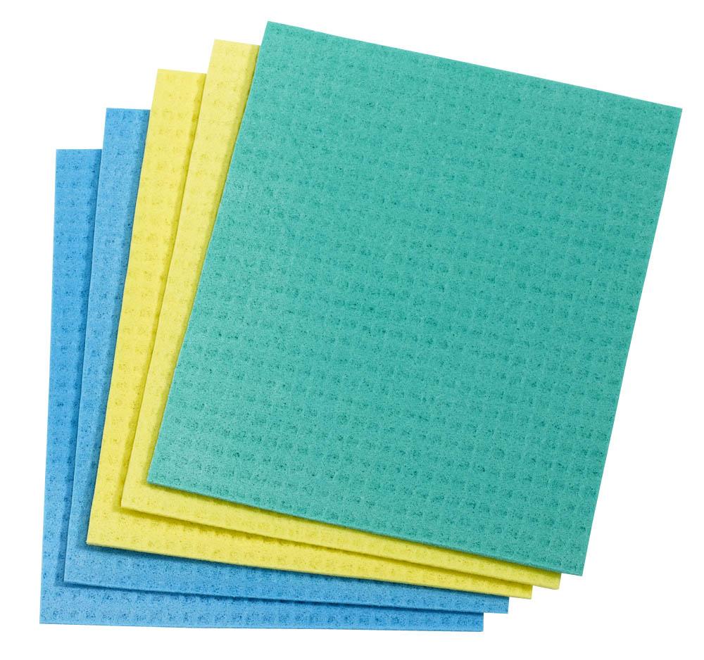 NoName Schwammtücher blau/gelb/grün