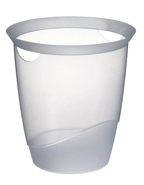DURABLE Papierkorb TREND 16 Liter transparent