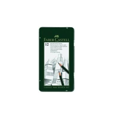 Bleistift Castell 9000 12er Set 5B-5H