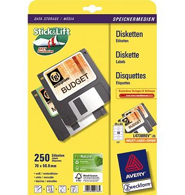 Etiketten und Aufkleber für Disketten