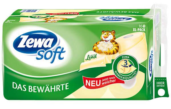 Zewa Toilettenpapier 28985 Das Bewährte, 16 Rollen