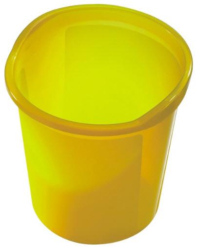 Helit Papierkorb economy 13 Liter gelb transluzent