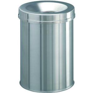 Durable Stahlpapierkorb 15 Liter mit Flammenlöschkopf+ Edelstahl