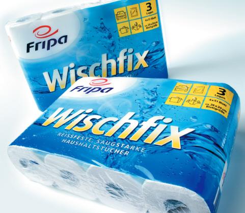Fripa Küchenrollen Wischfix 3-lagig hochweiß