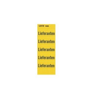 Etiketten mit Audruck 'Lieferanten'