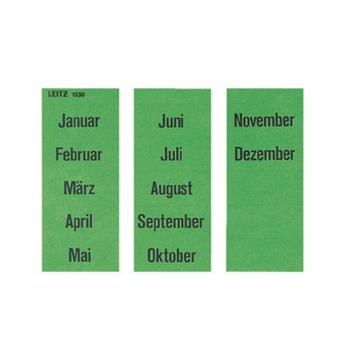 Etiketten mit Monatsnamen