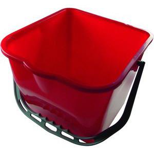 Meiko Eimer 15 Liter rot Ausgießer/Kunststoffbügel