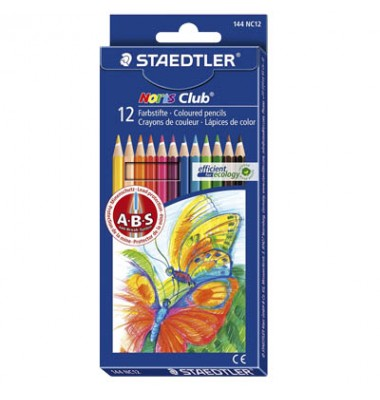 Staedtler Buntstift Noris Club sortiert 3mm 12er-Etui