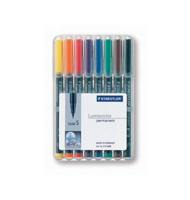 Lumocolor Folienstift S 8er-Etui sortiert 0,4 mm