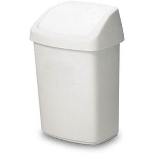 Rubbermaid Schwingdeckel-Abfallbehälter 10 Liter weiß