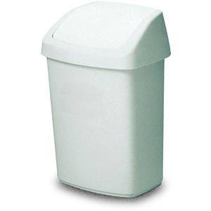 Rubbermaid Schwingdeckel-Abfallbehälter 50 Liter weiß