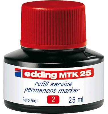 edding Nachfüllfarbe MTK25 rot Permanentmarker