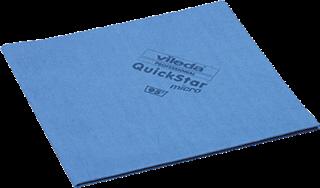 Vileda Reinigungstuch QuickStar Mikrofaser für Glas/Kunststoff/Metall blau