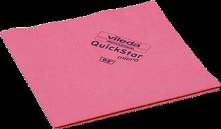 Vileda Reinigungstuch QuickStar Mikrofaser für Glas/Kunststoff/Metall rot