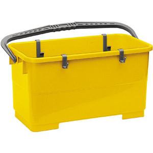 Vermop Profi Fensterreinigungseimer 22 Liter gelb Kunststoffbügel/4 Haken