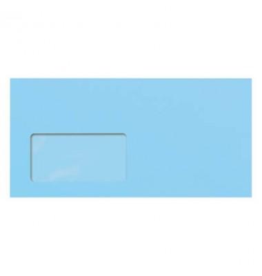Briefumschlag blau DIN lang plus