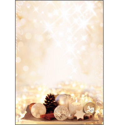 Weihnachtspapier beige/gold