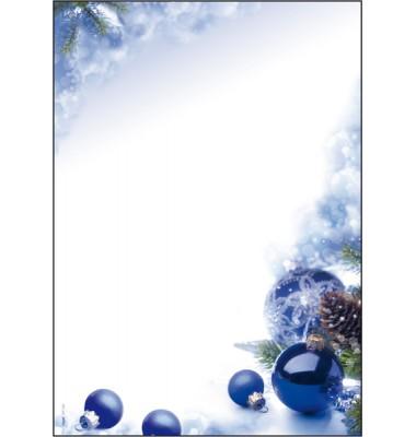 Weihnachtspapier blau/weiß