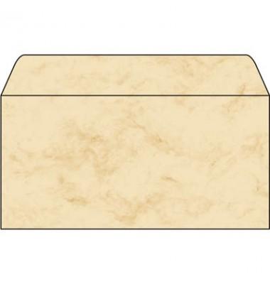 Briefumschlag marmoriert beige DIN lang