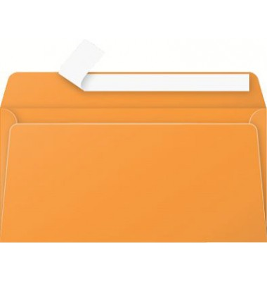 Briefumschlag kapuzinerrot  DIN lang