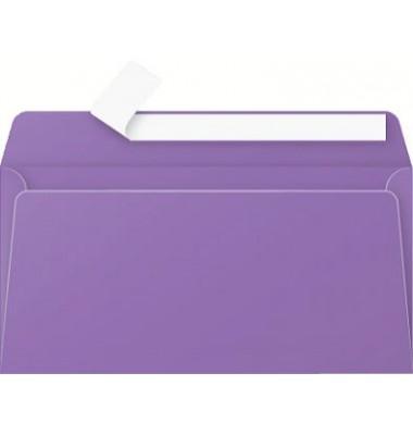 Briefumschlag violett DIN lang