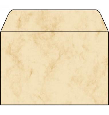 Briefhülle marmoriert beige C6