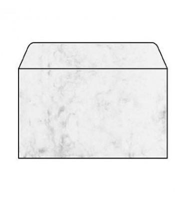 Briefhülle marmoriert grau C6