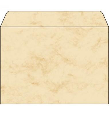 Briefkuvert marmoriert beige C5