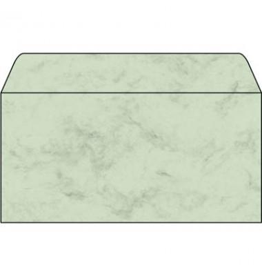 Briefumschlag marmoriert pastellgrün DIN lang