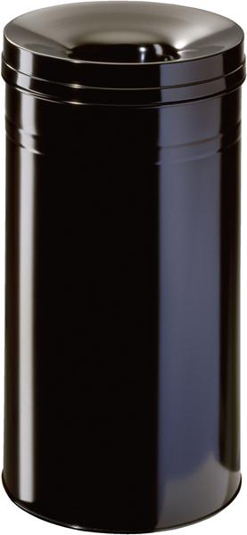 Durable Stahlpapierkorb 62 Liter mit Flammenlöschkopf+ schwarz