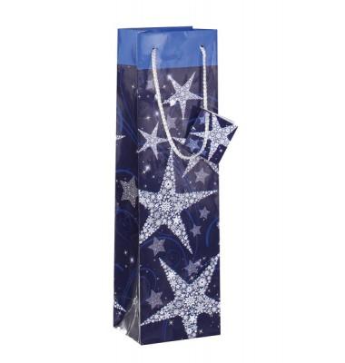 Blaue Geschenktasche für Weihnachten