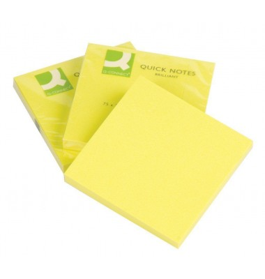 Haftnotizen in brillantem Gelb