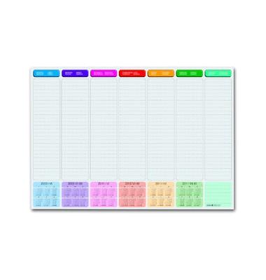 mehrfarbige Schreibunterlage mit Kalender