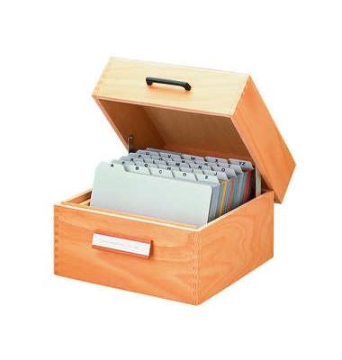 HAN Karteibox A6 quer f.400 Karten 165x95x143mm Bürobedarf blau//lichtgrau// ...