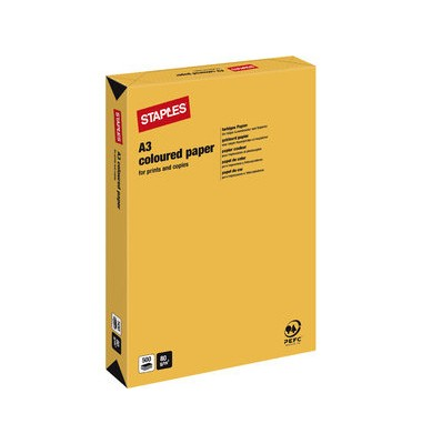 HEAD Kopierpapier goldgelb pastell