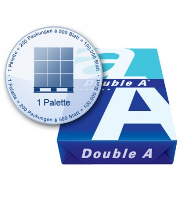 Kopierpapier Double A auf Palette
