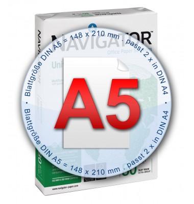 Kopierpapier im Format A5