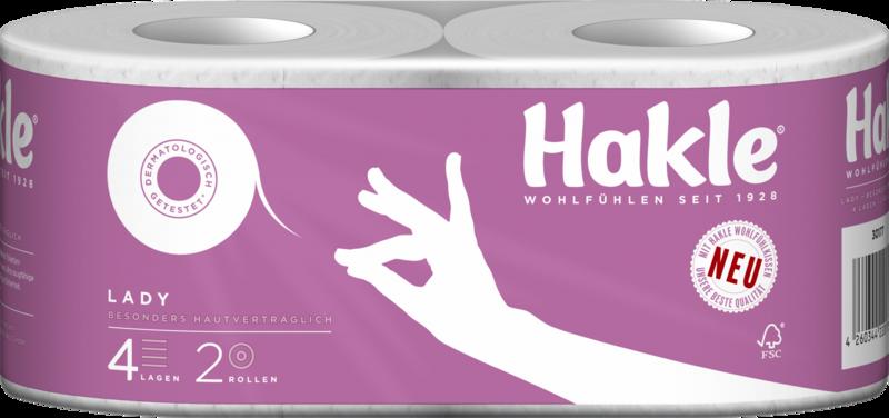 Hakle Toilettenpapier 4189 Lady, 20 Rollen