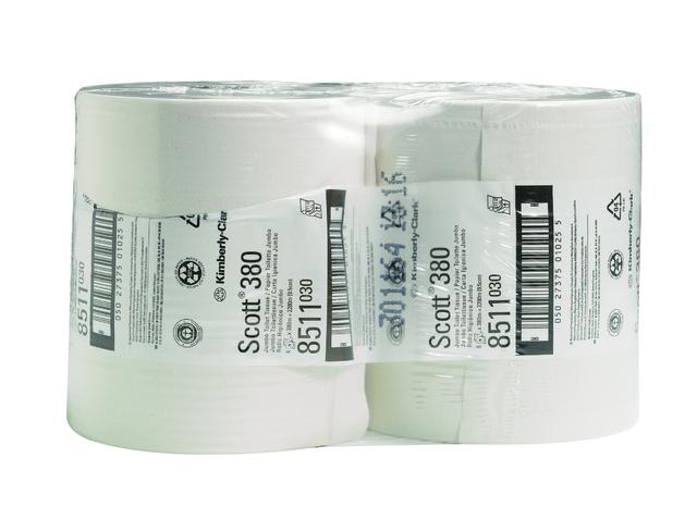 Scott Toilettenpapier Jumbo Performance 380, 8511 2-lagig 6 Rollen