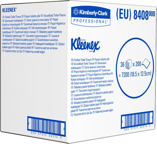 Kleenex Toilettenpapier 8408 Ultra 2-lagig 7200 Einzelblatt
