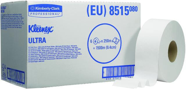 Kleenex Toilettenpapier Mini-Jumbo Midi Ultra 8515 2-lagig 6 Rollen