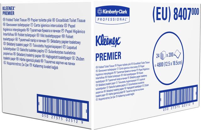 Kleenex Toilettenpapier 8407 Premier 2-lagig 4800 Einzelblatt
