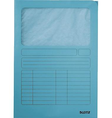 Leitz Sichtmappe A4 hellblau mit Sichtfenster